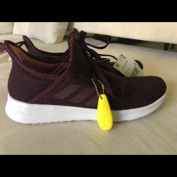buy online 89492 0c6b0 Adidas Cloudfoam Pure in Burgundy